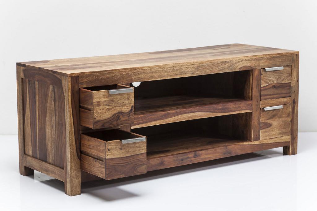 Design Tv Kast : Kare design tv kast authentico sheesham hout